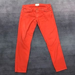 Current Elliot orange ankle jean mid rise  29